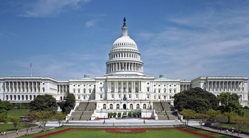 The western front of the United States Capitol. Source: Wikipedia Commons.