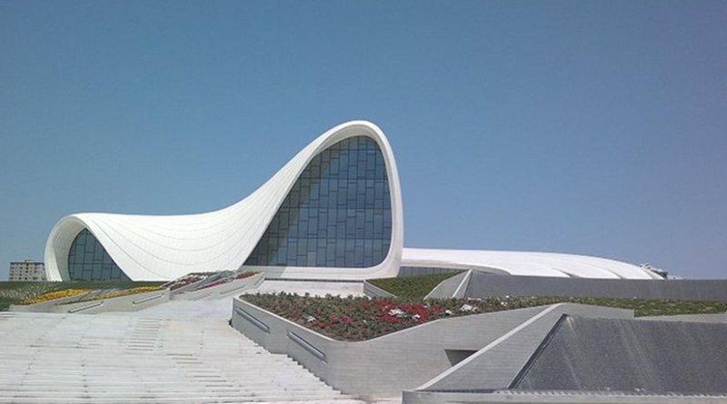 Heydar Aliyev Cultural Center in Baku, Azerbaijan. Source: Wikipedia Commons.