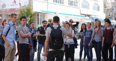 'Breaking The Silence' takes a group on a tour of Hebron where they learn first hand about life under occupation. Credit: Mel Frykberg