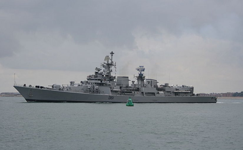 File photo of INS Delhi taken by Brian Burnell, Wikipedia Commons.