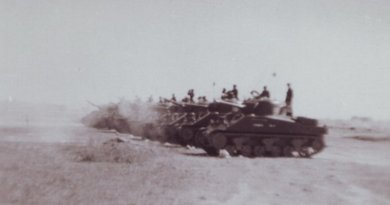 Tanks of 18th Cavalry (Indian Army) on the move during the 1965 Indo-Pak War. Photo by Abhinayrathore, Wikipedia Commons.