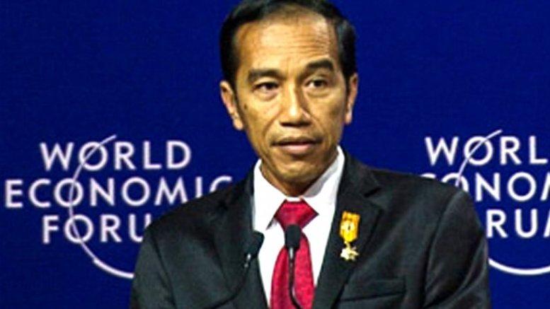 Joko Widodo in World Economic Fourm Jakarta. Photo by merdeka.com, Wikipedia Commons.