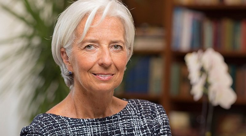 IMF's Christine Lagarde. Photo Credit: IMF