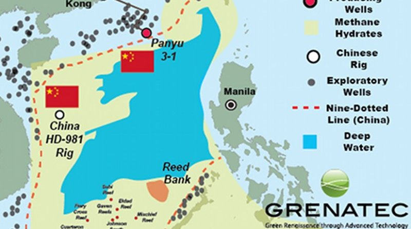n addition to potentially large resources of oil and gas, the South China Sea's deeper waters also are believed rich in methane hydrates. Source: US EIA, Klaudia & Sandler, 2005