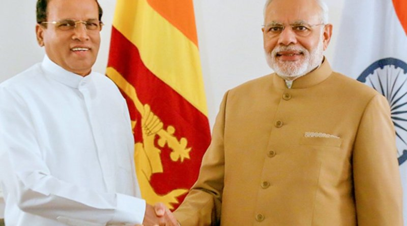Sri Lanka's Maithripala Sirisena in New York to attend the 70th UN Summit meets with India's Narendra Modi. Photo Credit: Sri Lanka Government.