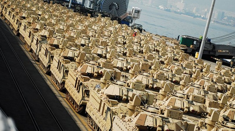 U.S. Army Prepositioned Stock IV receives upgraded Bradley Fighting Vehicles as ongoing effort to strengthen readiness across Korean Peninsula (U.S. Army/Bryan Willis)