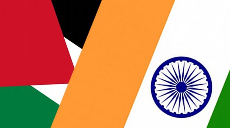 India and Palestine flags