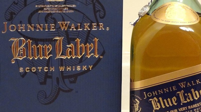 Johnnie Walker Blue Label. Photo by Iceman7840, Wikipedia Commons.