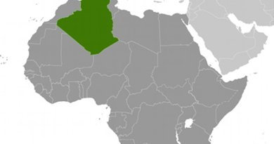 Location of Algeria. Source: CIA World Factbook.