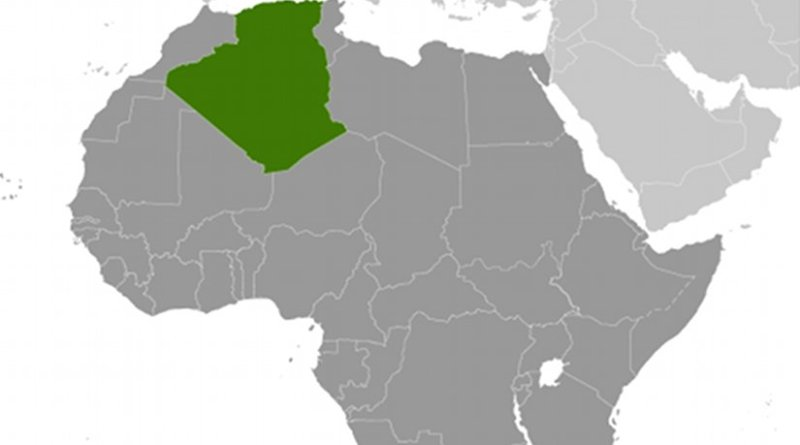 Location of Algeria. Source: CIA World Factbook.