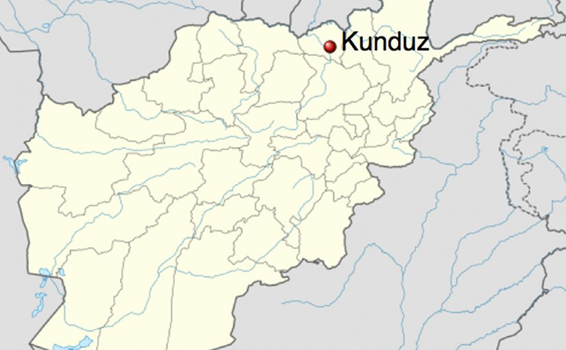 Location of Kunduz in Afghanistan. Source: Wikipedia Commons.
