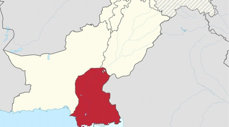 Location of Sindh in Pakistan. Source: Wikipedia Commons.