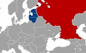 Baltic States and Russia. Source: Wikipedia Commons.