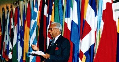 Somar Wijayadasa at the World Aids Day in 1998. Credit: UNAIDS