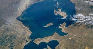 Aral Sea from space. Photo Credit: NASA.