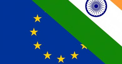 Flags of European Union and India