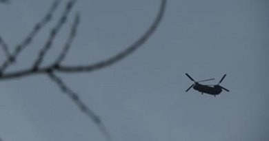 Helicopter over Kabul, Afghanistan. Photo Credit: Voices for Creative Nonviolence