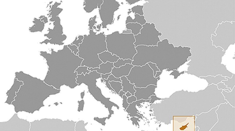 Location of Cyprus. Source: CIA World Factbook.