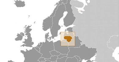 Location of Lithuania. Source: CIA World Factbook.