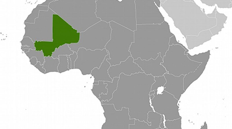 Location of Mali. Source: CIA World Factbook.