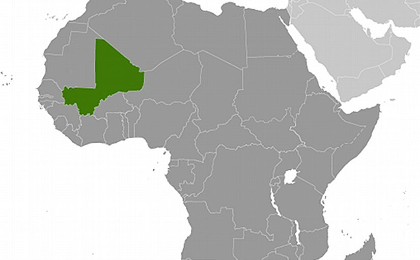 Location of Mali. Source: CIA World Factbook.