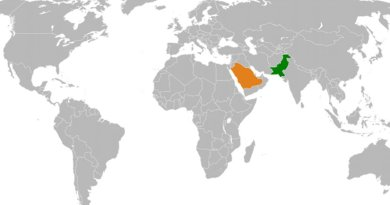Locations of Pakistan and Saudi Arabia. Source: WIkipedia Commons.