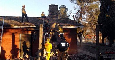 Burglar suspect dies after getting stuck in chimney. Photo Credit: Fresno County Sheriff's Office.