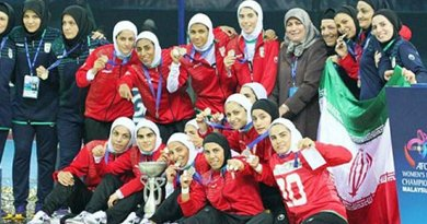 Iranian Women's Futsal Team. Photo via Radio Zamaneh.