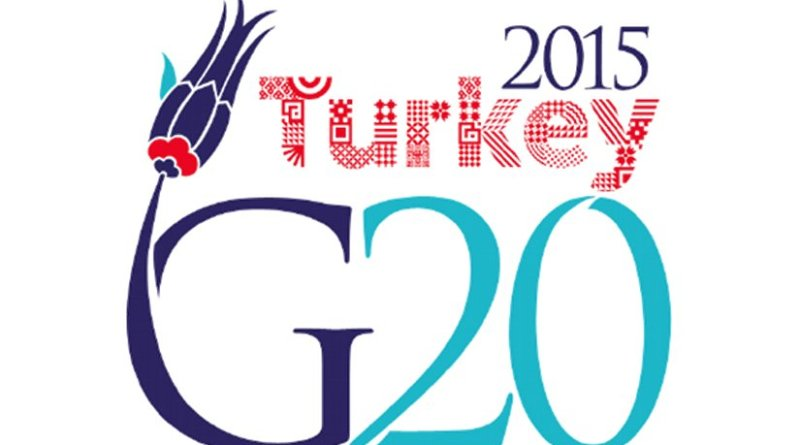 The logo of the G20 summit 2015