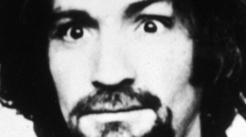 Charles Manson's mugshot (public domain)