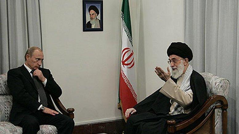 File photo of meeting between Russia's Vladimir Putin and Iran's Ayatollah Khamenei. Photo Credit: Kremlin.ru, Wikipedia Commons.