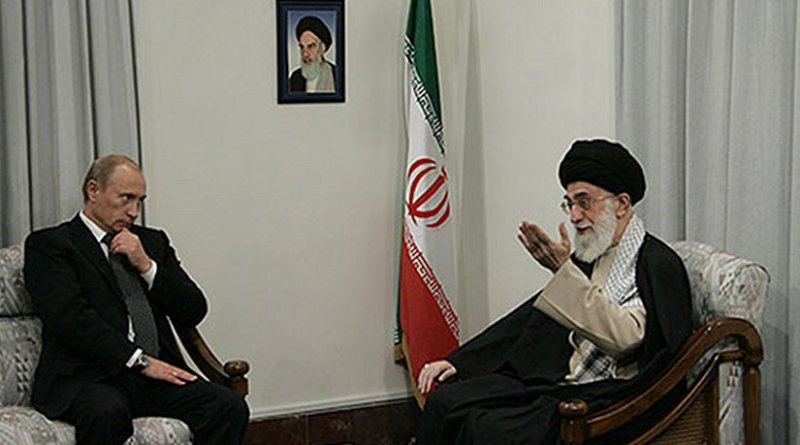 File photo of meeting between Russia's Vladimir Putin and Iran's Ayatollah Khamenei. Photo Credit: Kremlin.ru, Wikipedia Commons.