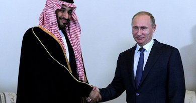 Saudi Arabia's Prince Mohammad with Russian President Vladimir Putin. Source: Kremlin.ru, Wikipedia Commons.