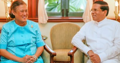 President Maithripala Sirisena meets with Princess Maha Chakri Sirindhorn of Thailand. Photo Credit: Sri Lanka Government.