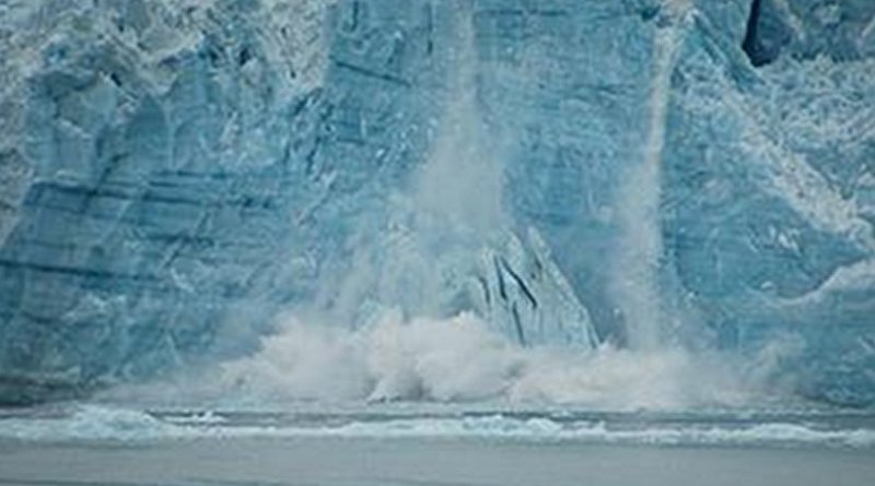 Alaska glaciers on-the-move: here, Hubbard Glacier during a calving event. Credit: SE Alaska Scientific Party