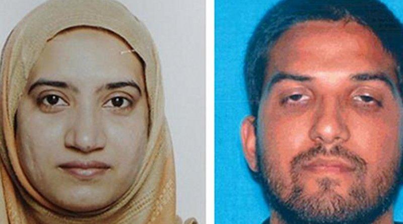 California killers Tashfeen Malik, left, and Syed Farook. (FBI)