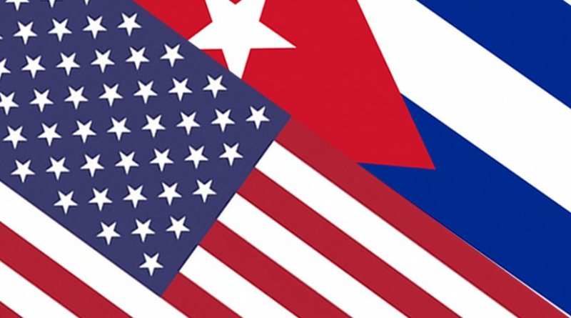 Flags of Cuba and United States