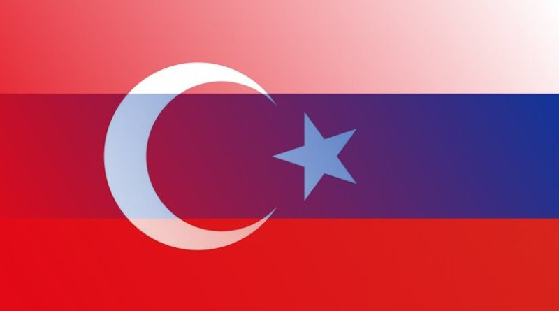 Flags of Turkey and Russia