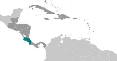 Location of Costa Rica. Source: CIA World Factbook.