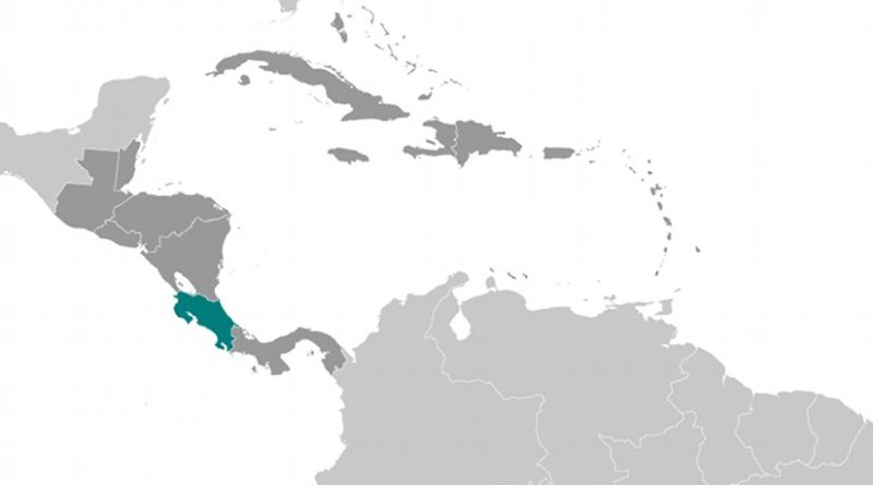 Location of Costa Rica. Source: CIA World Factbook.