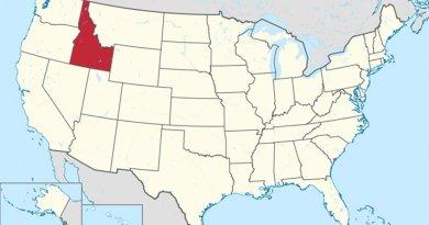 Location of Idaho. Source: Wikipedia Commons.