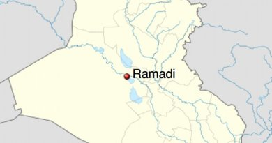 Location of Ramadi in Iraq.Source: Wikipedia Commons.