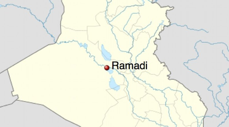 Location of Ramadi in Iraq.Source: Wikipedia Commons.