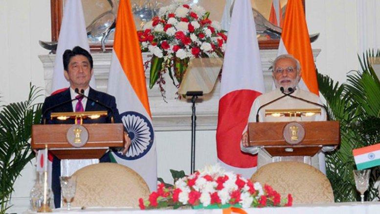 Japan's Shinzo Abe and India's Narendra Modi. Photo Credit: Office of India's Prime Minister.