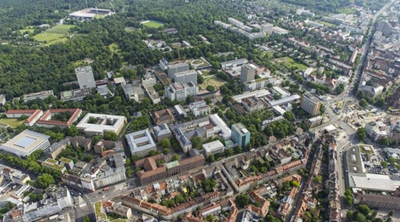 Urban heat islands in cities like Karlsruhe are influenced by factors, such as population density, surface sealing, vegetation, thermal radiation of buildings, industry, and transport. (Photo: KIT)