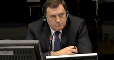 Milorad Dodik, defence witness in the trial of Ratko Mladic at the ICTY. Photo: ICTY.