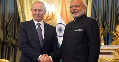 India Prime Minister Shri Narendra Modi meeting the President of Russian Federation, Mr. Vladimir Putin, in Moscow, Russia on December 24, 2015. Photo Credit: Indian Prime Minister Office.