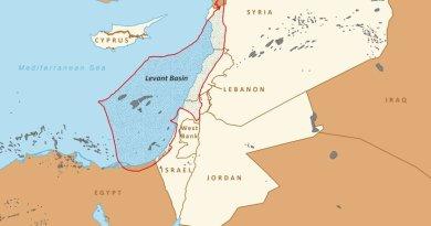 Levant Basin in Eastern Mediterranean. Source: EIA