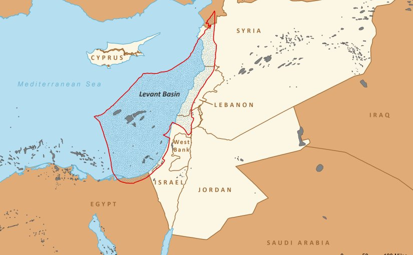 Levant Basin in Eastern Mediterranean. Source: EIA