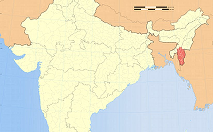Location of Mizoram in India. Source: Wikipedia Commons.
